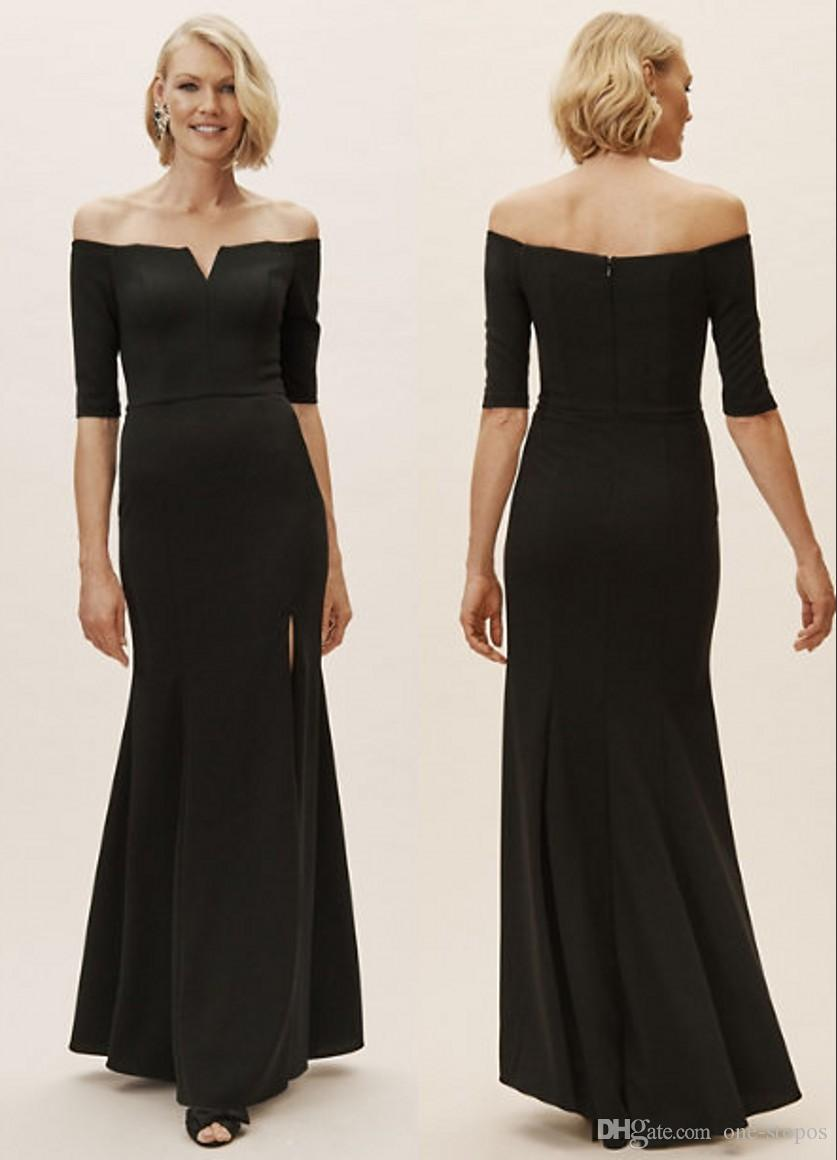 Elegant Simple Black Mother Of The Bride Dress Plus Size Side Slit Off  Shoulder Mother Dresses Formal Evening Dresses Custom Made Burgundy Mother  Of ...