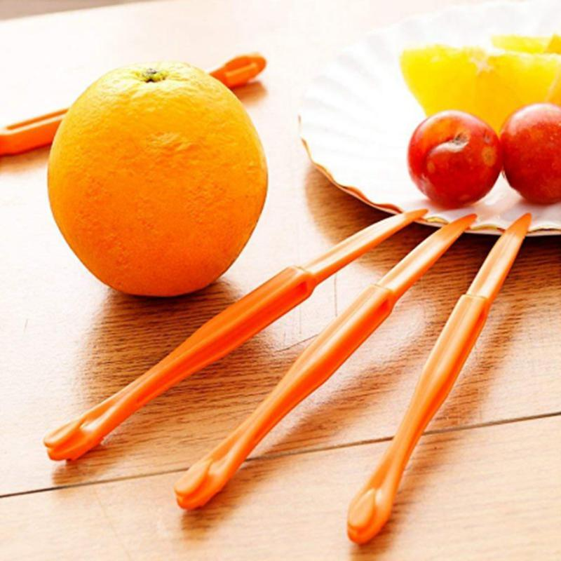 15cm section longue orange ou Citrus Peeler fruits zesteurs Décapant dispositif orange couteau à dépecer outils fruits d'agrumes Ouvre YYA57