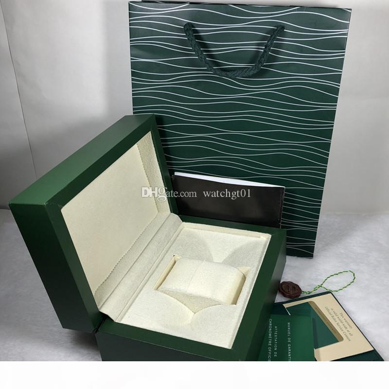 scatola di lusso del Mens Per orologio Rolex Scatola di legno originale interno esterno Donna di Orologi Scatole paper del regalo del sacco da polso Box Watch desingers