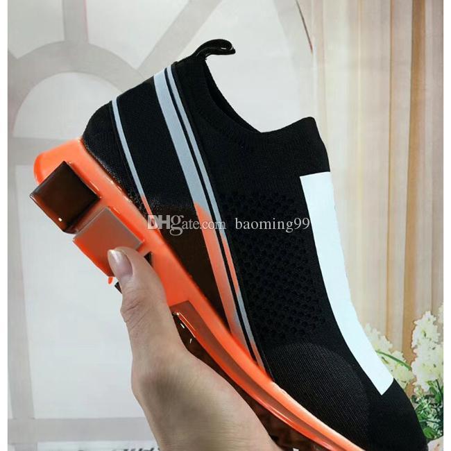 Mulheres Homens Designer Sneakers Speed Trainer Low-Cut Moda Plano Sock Botas Casual Shoes Speed Trainer Walking Shoes Sneakers com caixa 35-46