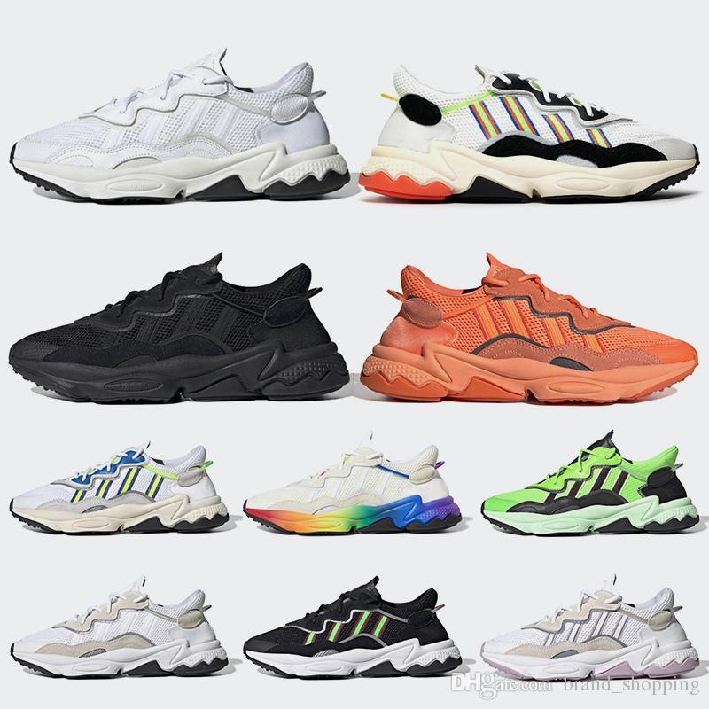 High Quality Ozweego Pride 3M Reflective Xeno Running shoes Neon Green Solar Yellow Halloween Tones Triple s Black Trainers Sports Sneakers
