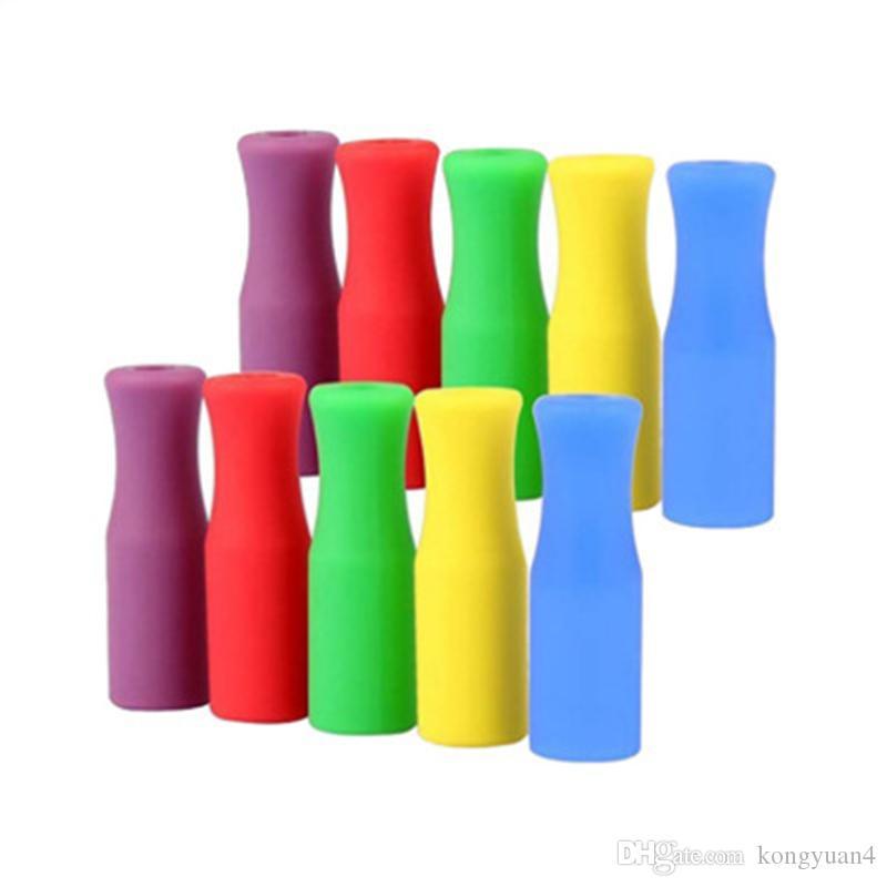 """Pontas do silicone do produto comestível para palhas do aço inoxidável, multi-cores Pontas do aço inoxidável do palito para 10 pcs, ajuste para o St inoxidável do 1/4 """""""