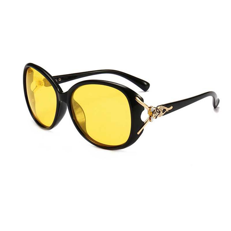 MLLSE Yeni Marka Gece Görüş Gözlüğü Sürücüler Kadınlar elmas Gözlük Sürüş Gözlük Koruyucu Gears Gece Görüş Gözlükleri