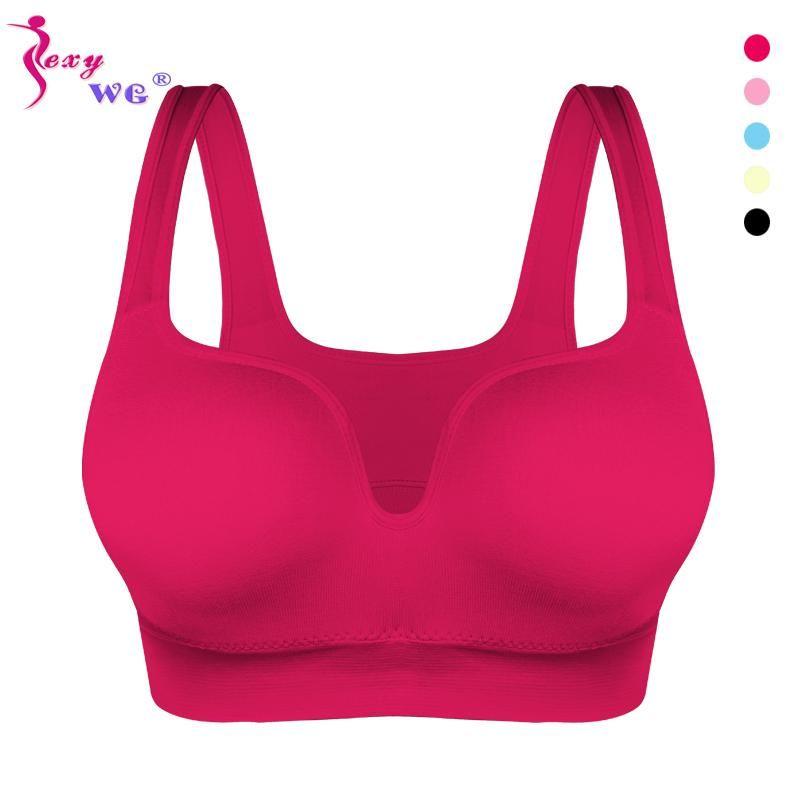 Kadınlar Spor Bras Yoga Gömlek Spor Koşu Yelek İç Yastıklı Sütyen Mahsul Spor Üst İç Kablosuz İtme Sütyen
