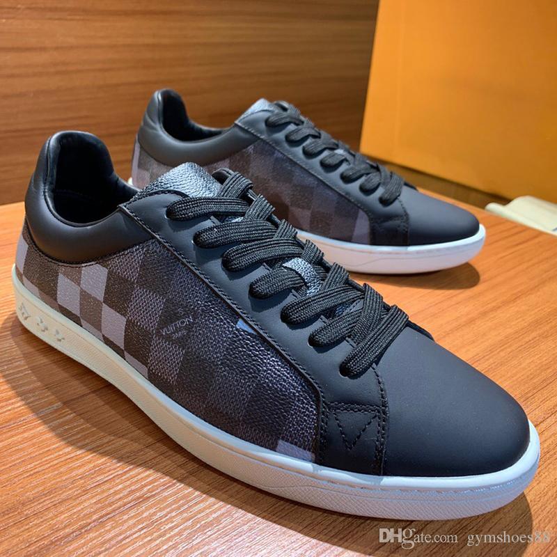 2020 новых прибытия мода мужская повседневная обувь роскошь зашнуровать на открытом воздухе плоские тренер спортивной обуви реальный кожаный с низким уровнем верхней мужской теннис спортивная обувь