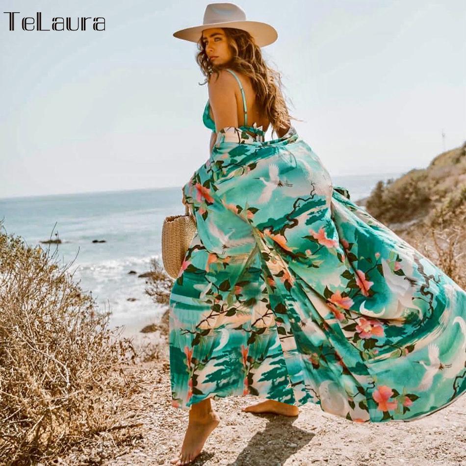 2019 New Beach Cover Up Swimsuit Beach Dress Swimwear Women Bikini Cover-ups Bathing Suit Summer Beach Wear Loose Shawl Kimono Y19060301