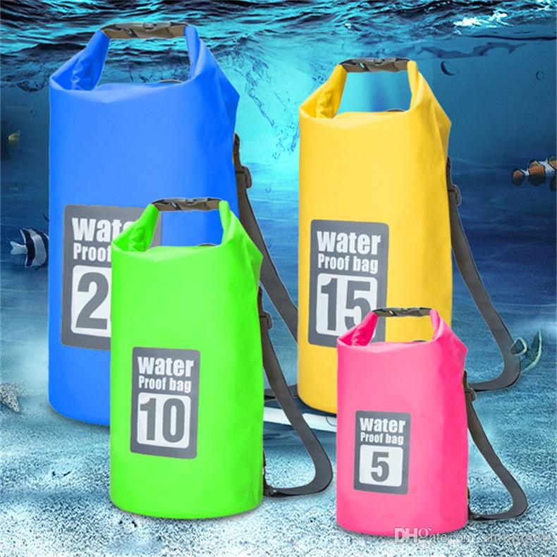 PVC Tactical Waist Packs Hiking Tactical Backpacks Travel Waterproof Bag Camping Packs Unisex Beach Storage Drifting Dry Pouch