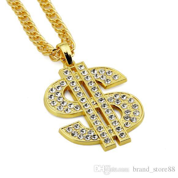 Medusa avatar collana di diamanti signore del progettista uomini hip hop gioielli lunga collana di oro e argento a catena degli uomini 2PCS
