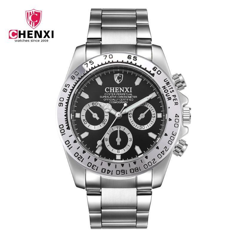 Man Assista 2019 Waterproof Quartz Men aço inoxidável Top Chenxi relógios homens relógios desportivos de erkek kol saat