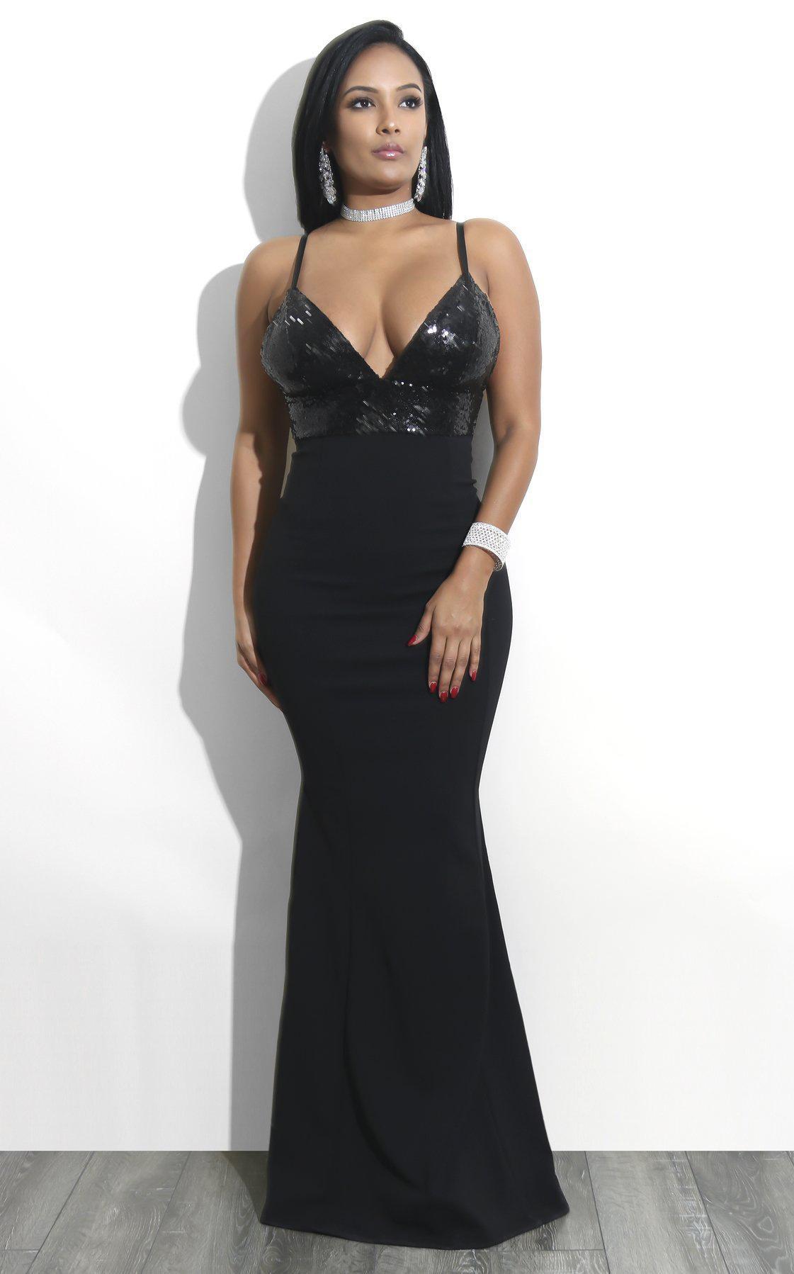 Standard European and American big fashion sequined evening dress sexy hip dress festive women dress