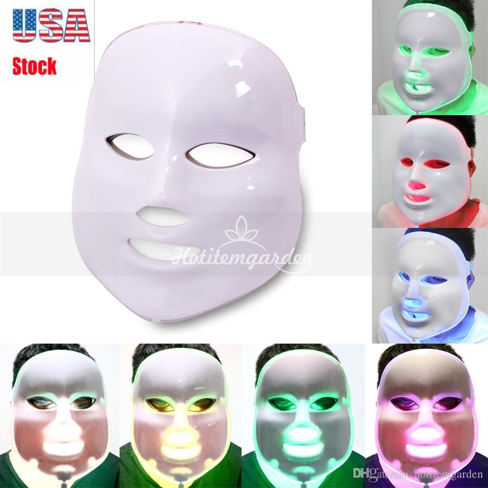 Лучшие 7 цветов Beauty Therapy Фотон LED маска для лица Light Уход за кожей Омоложение морщин удаления прыщей лица Антивозрастной Spa Beauty Instrument