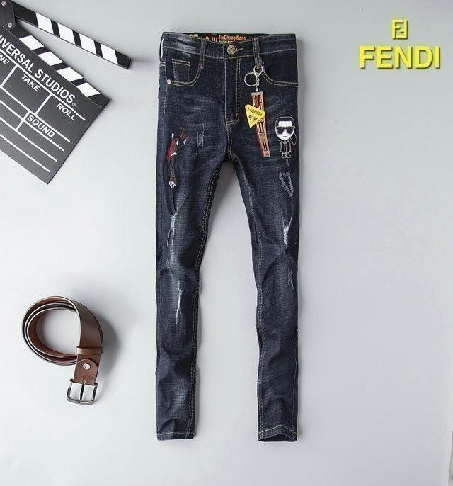 Jeans elasticizzati personalizzati ricamati Jeans uomo autunno 19 tendenze europee e americane New Jeans uomo 702 56883036