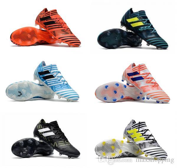 2017 ACE 17+ Purecontrol FG Mens soccer Shoes Nemeziz 17.1 FG Football Shoes High Tops Soccer Boots Laceless Soccer Cleats Football Boots