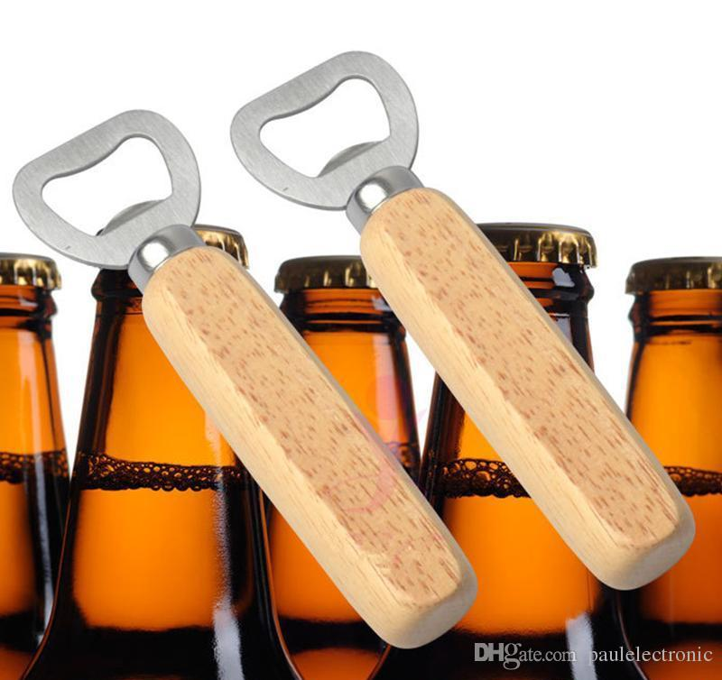 Kitchen Bottle Opener Tools Wooden Handle Beer Openers Bar Tools Soda Beer Bottle Opener Wine Bottle Opener
