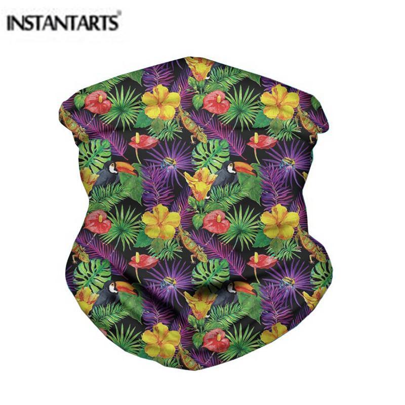 Patrón INSTANTARTS Senderismo bufanda de la oscuridad tropical hawaiano de ciclo al aire libre del pañuelo Deportes pañuelos de cuello polaina de la bufanda mágica