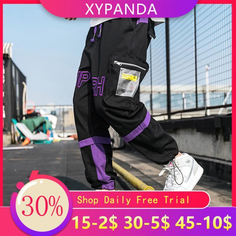 XYPANDA İlkbahar ve Sonbahar Yeni Tide Marka Hong Kong Stil Büyük Cep tulumları Gevşek Erkek Casual Pantolon
