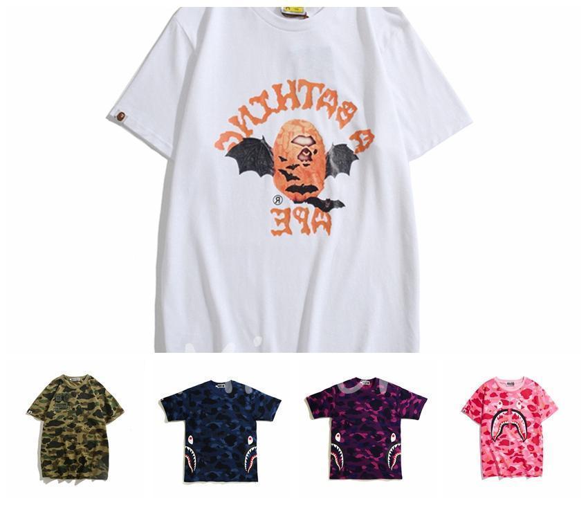 Hot Summer vente au Japon style marques populaires Camouflage singe mixte Couleurs Beggar Robe ras du cou Pull grande taille M-XXL 8w5a311e1 #