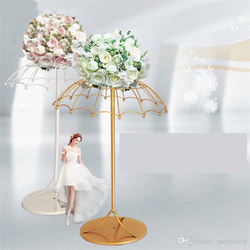 Creative Guarda-chuva Ferro Frame Wedding Bem-vindo Área Ornament Road Citou Adereços para Decorações De Mesa De Partido Suprimentos
