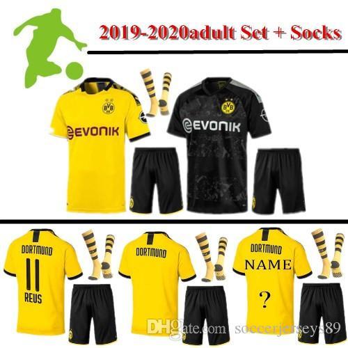 2020 Soccer Jerseys 2019 2020 Borussia Dortmund Soccer Jersey Adult Kit With Socks 2019 20 Pulisic Reus Bvb Borussia Dortmund Football Shirts From Soccerjerseys89 18 45 Dhgate Com