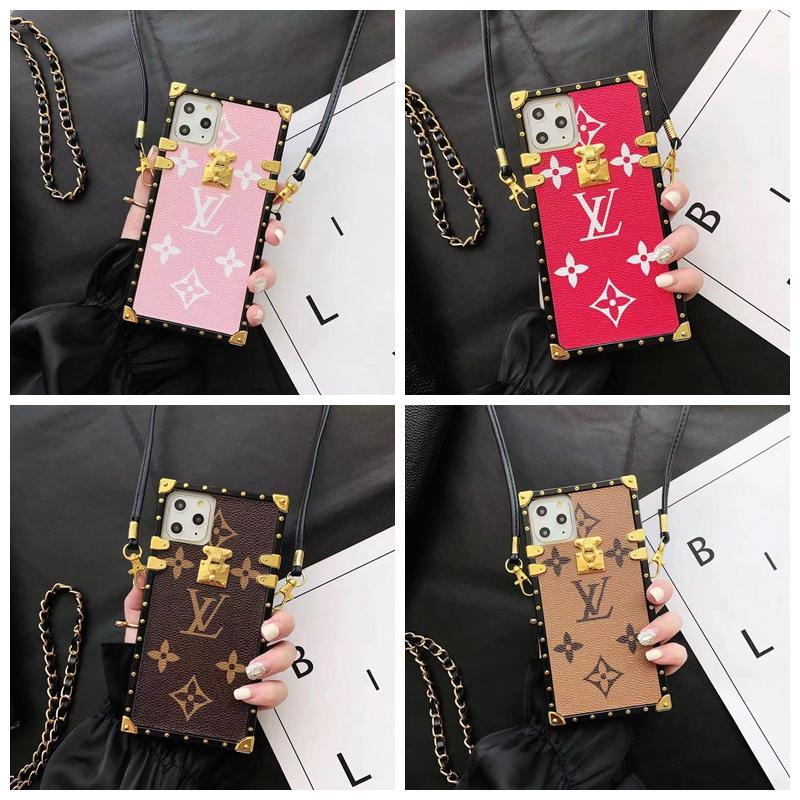 Marke Fashion Designer-Taschen-Telefon-Kasten für iPhone 11 11 pro max Xr Xs max X 8 7 6S Plus-rückseitige Abdeckung Tpu Lattice-Muster Fall A02
