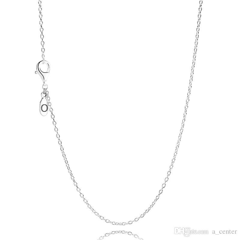Klassische Kabel Halskette mit Box für Pandora Sterlingsilber 925 ohne Anhänger Kette Körper wilde elegante Halskette