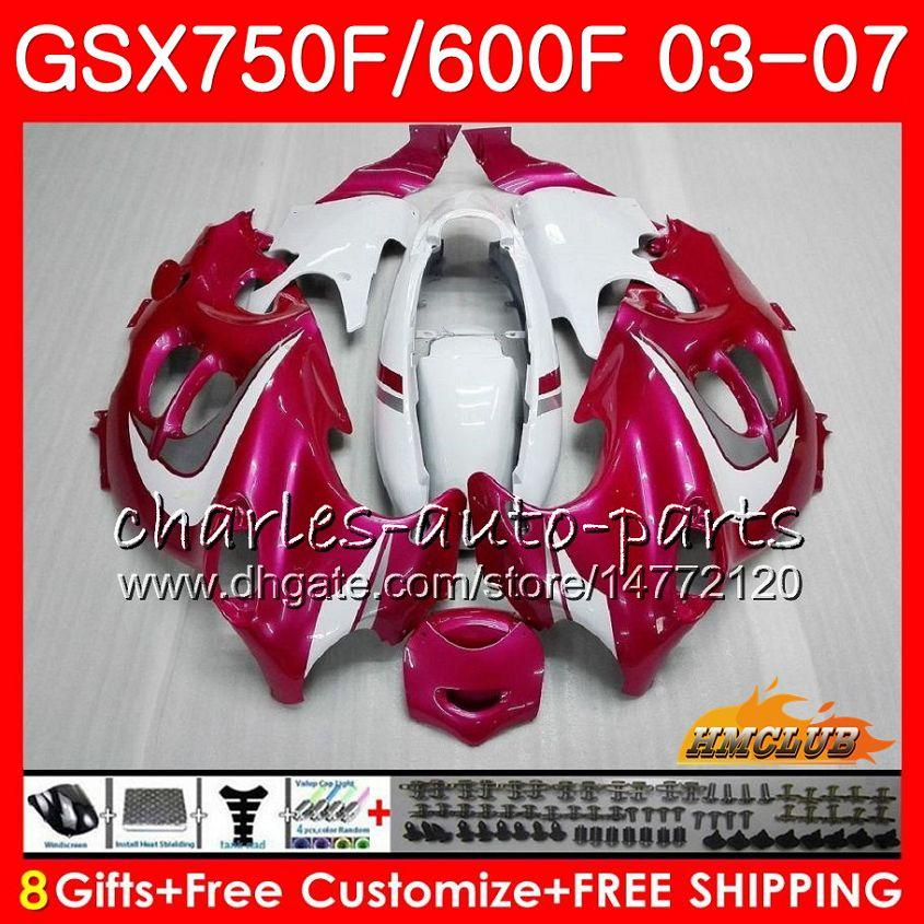 ボディキット鈴木カタナGSXF600 GSXF750 03 04 05 06 07 07 07 3HC.45 GSX600F GSXF 750 2003 2003 2004 2004 2007 2007ピンクローズホットフェアリング