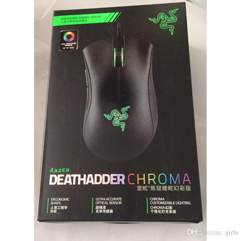 Razer Deathadder Chroma USB Wired Optical Gaming Mouse Computer 10000dpi sensore ottico del mouse di Razer Mouse di buona qualità