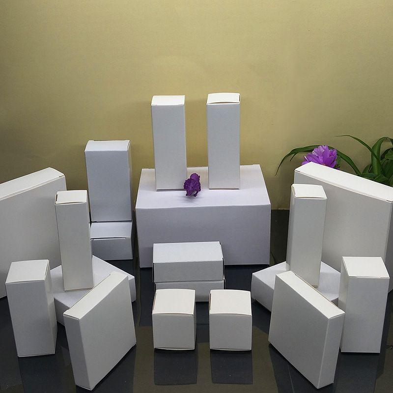Cajas de cartón Cajas de regalo de caja blanca de 20 oz 30 oz flaco vaso 10 oz 12 oz taza para sorber el vino 6 oz vaso de cada caja de tamaño de vaso