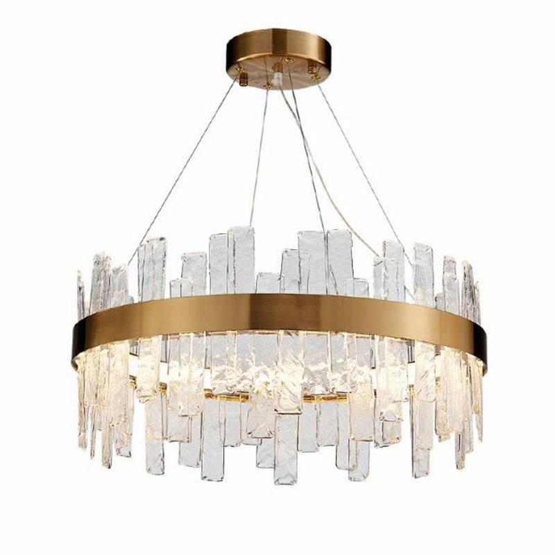 الذهب كريستال الحديثة الثريا الإضاءة LED جولة شنقا مصباح للنوم غرفة المعيشة الرئيسية ضوء مصباح الثريات