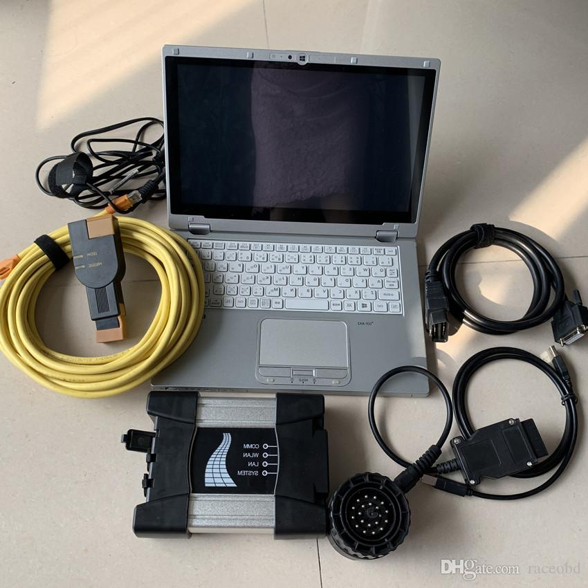 per BMW Diagnosi ICOM successivo 2021 Ultimi 480 GB SSD CF-AX2 Laptop I5 8G Usato Touch Screen 360 gradi Cavi di rotazione Pieno