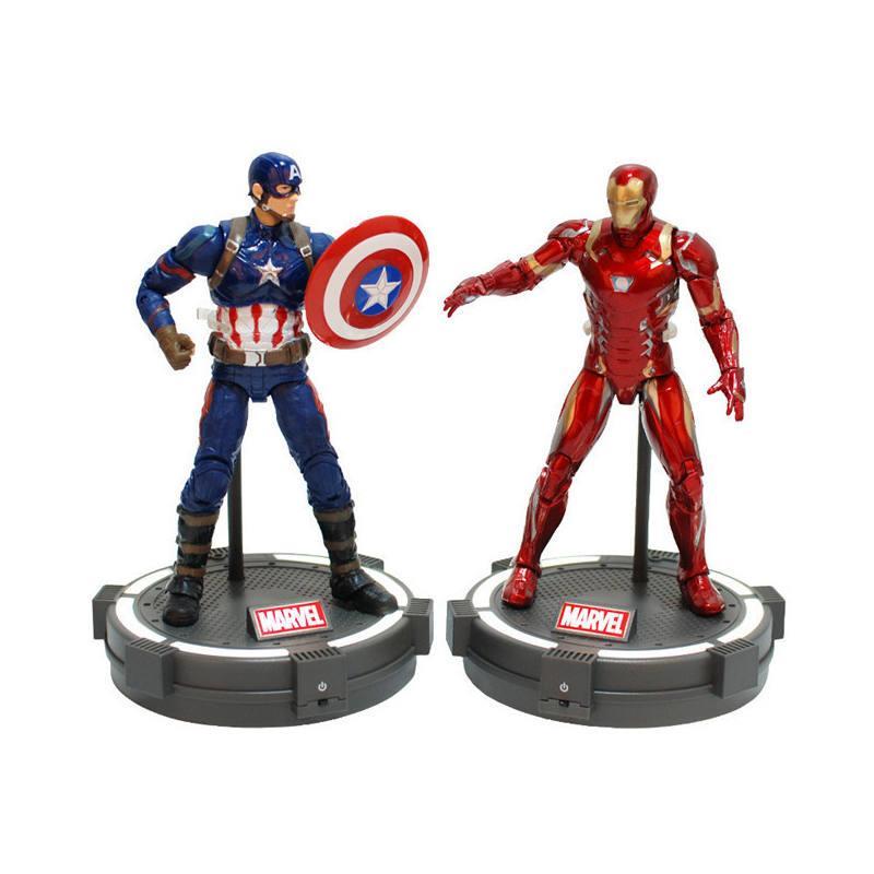 Marvel Avengers Superhero Iron Man Civil War Series PVC Model Action Figure Toy