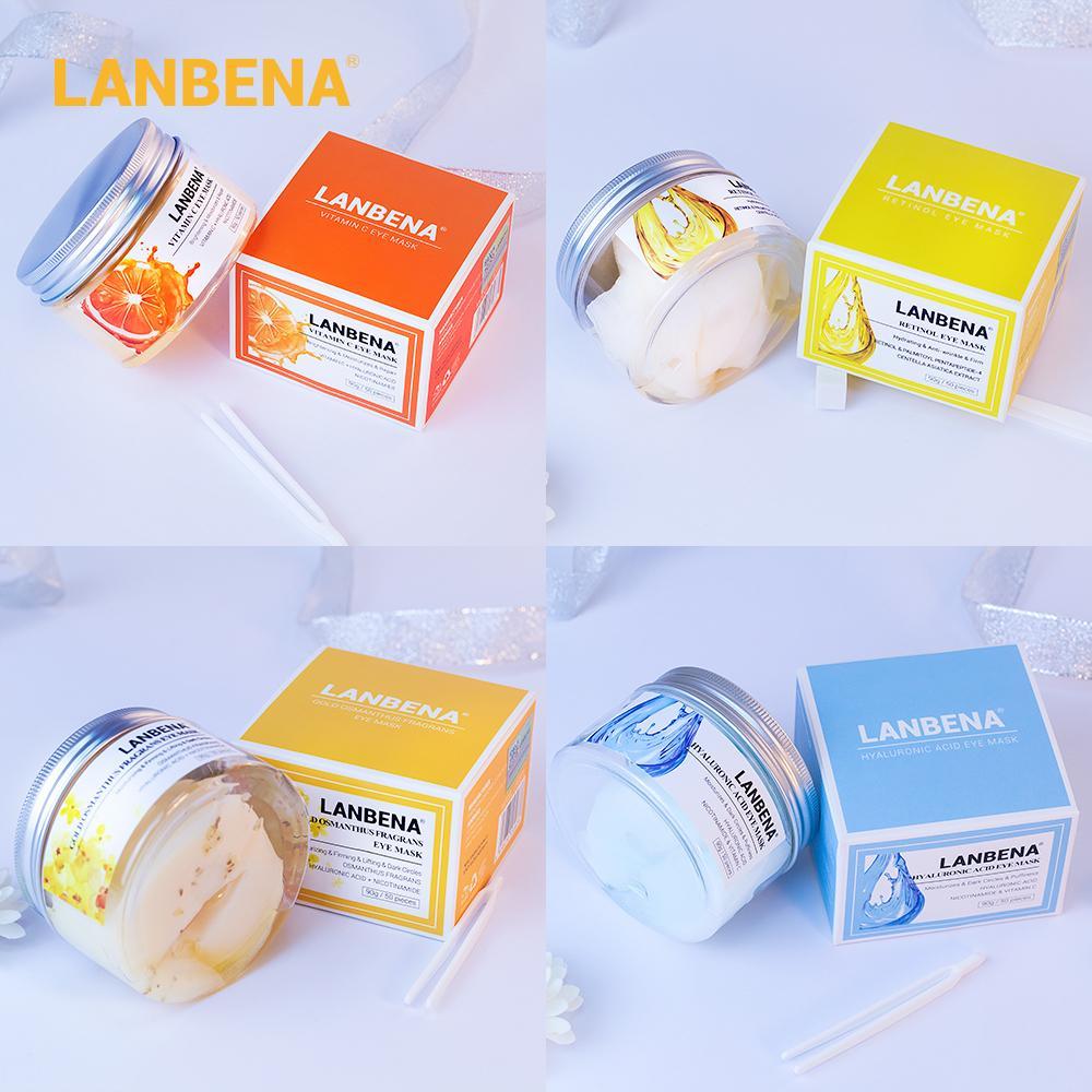 Lanbena Hyaluronic Acid VC Retinol Hydration Eye Mask Patches يقلل من الهالات السوداء أكياس تغذي البشرة العناية