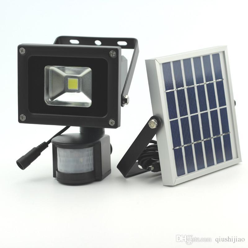 10W Solar Light PIR Motion Detected LED Flood Security light LED Wall Light Waterproof Solar Powered Floodlight Garden Lamp Warm white/White
