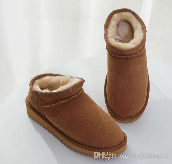 Chinelos Clássico curta de Moda de Nova alta qualidade mulheres ajoelham Botas Ankle boots Grey Black Navy Castanha azul Mulheres Bota