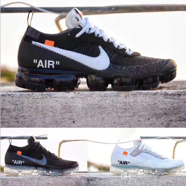 NIKE Air Max Vapormax Flyknit 2.0 Vapeurs Fly 2.0 II Knit FK 2.0 Chaussures Hommes Off Ouest Designer Maxes Chaussures Outdoor Noir Blanc Air Respirable Sneakers Taille US 5.5-11