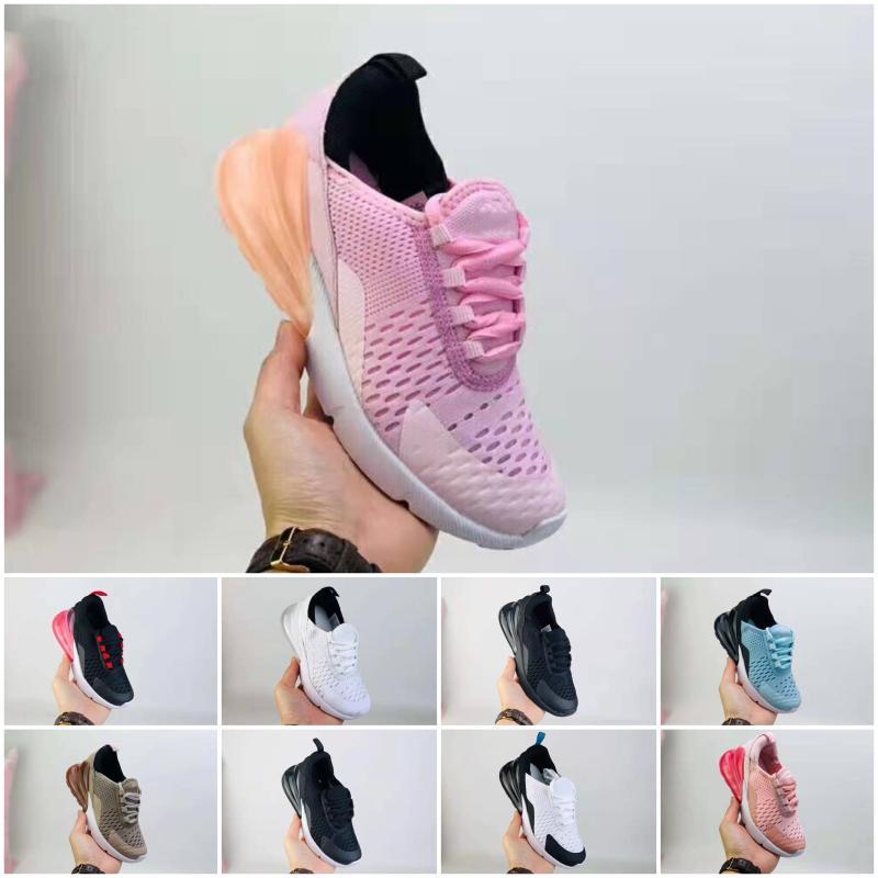 Nike air max 270 formato poco costoso caldo Bambini Athletic Shoes bambini 27 scarpe casuali delle scarpe da tennis lupo grigio del bambino di sport per i ragazzi della neonata