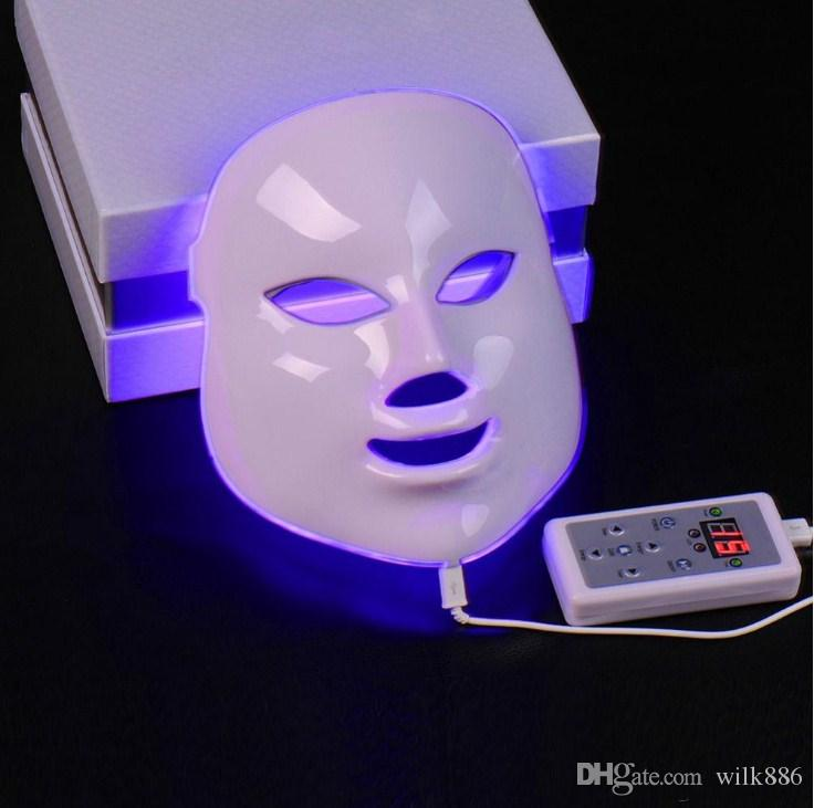 Health Beauty 7 Colors Lights LED Photon PDT Facial Mask Face Skin Care Rejuvenation Therapy Device Portable Home Use DHL Shipping