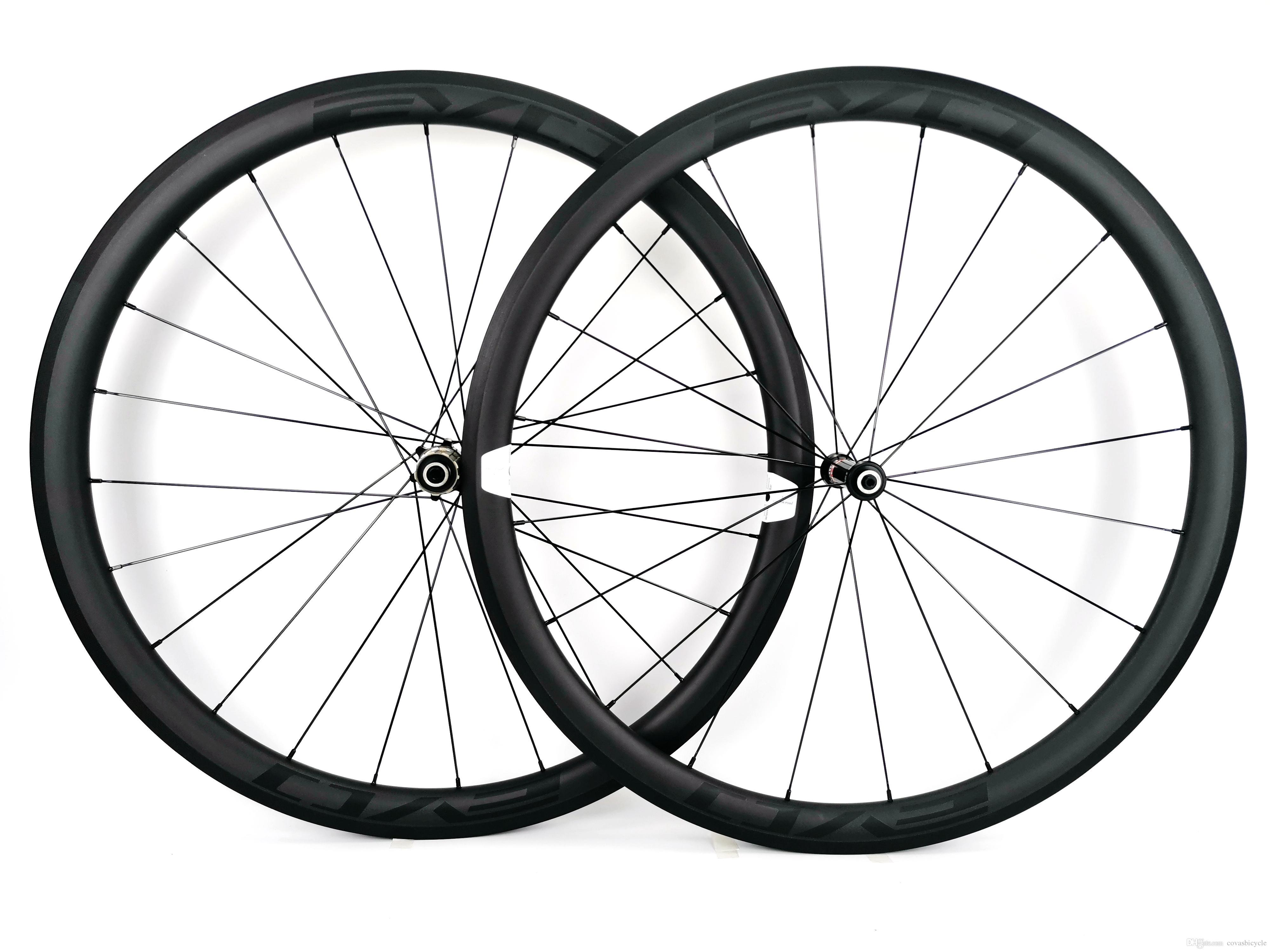 700C süper hafif Tırmanma karbon jantlar 38mm derinlik 25mm genişlik kattığı / Tübüler Yol bisikleti karbon tekerlek UD mat EVO çıkartmaları
