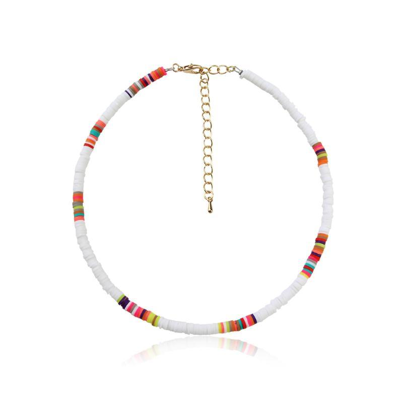 Lepenn New Fashion Jewelry Trend Statement Popular Korean Style Colored Sweet Lovely Choker Chain Necklace For Women