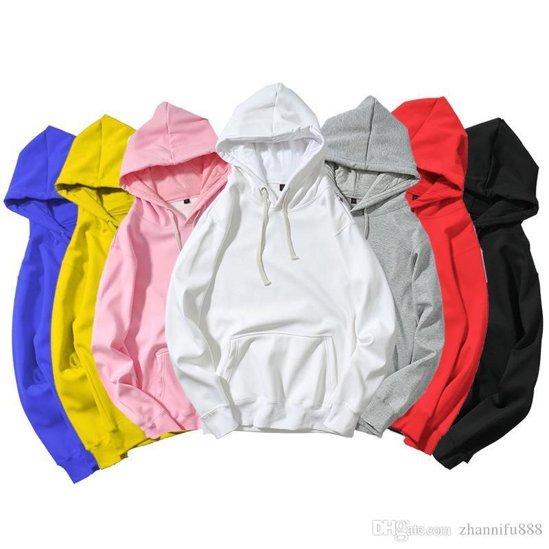 2020 mit Kapuze beiläufige Baumwolle Fabric232 Weizenohren Logo Druck lose tragen Sie bequeme einfache und elegante M-2XL Paar Sweatshirt