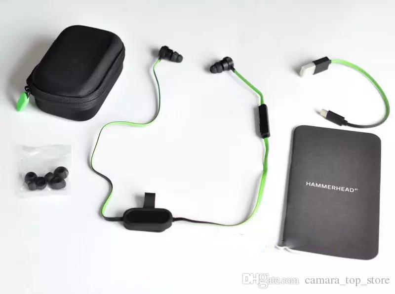 Wireless Razer Hammerhead V2 BT Bluetooth Headphones Wireless in ear earphones With Microphone With Retail Box In Ear