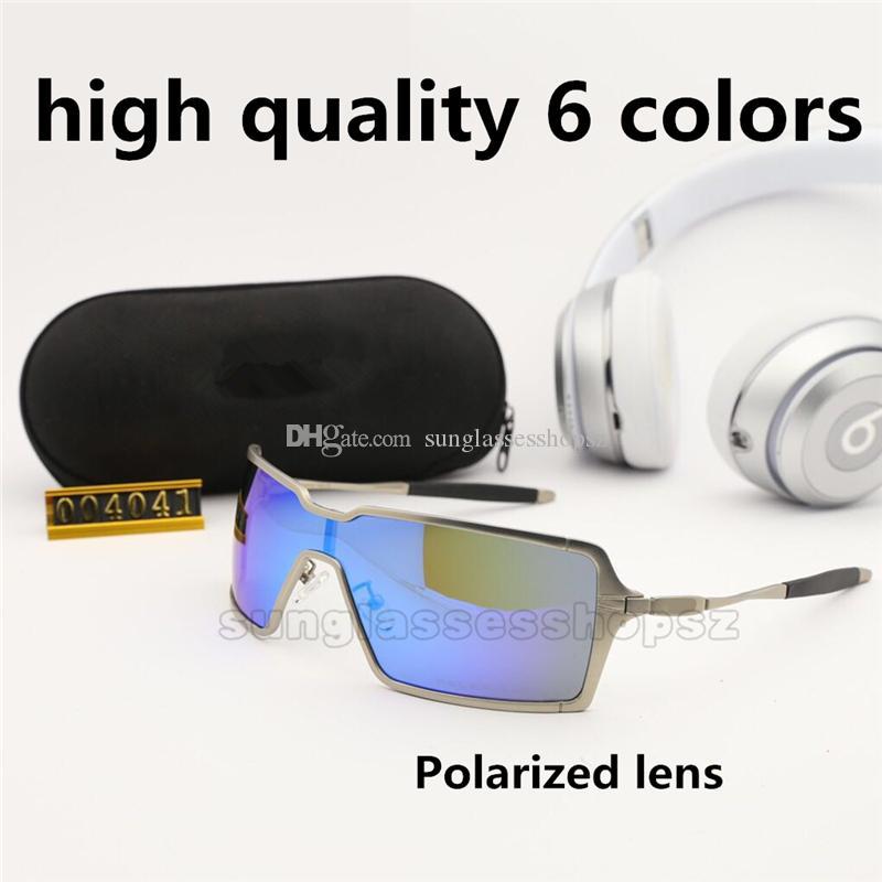 Yüksek kaliteli polarize Tasarımcı Erkekler Için 4041 Güneş Gözlüğü Yaz Gölge UV400 Koruma Spor Güneş gözlükleri 6 Renkler Siyam lens