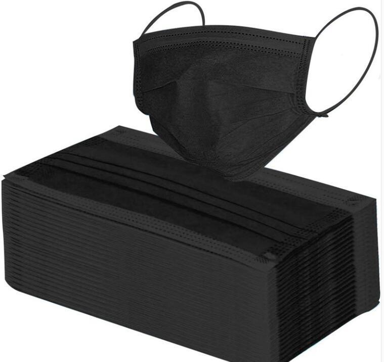 De tres capas máscara de la nariz Protección del partido de ventilación a prueba de polvo que hace espuma en una población Negro 10 venta al por mayor