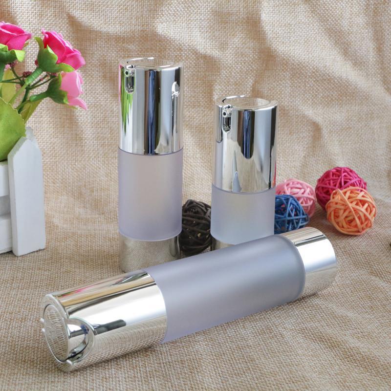 Безвоздушного 15 мл 30 мл 50 мл Empty Вакуумный насос Туалет судно Cosmetic Матовый бутылки Мини-прозрачный лосьон для макияжа Контейнерные 10шт