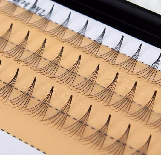 1 Conjunto de Mulheres Macio 0.07 C 6d Onda Cílios Individuais Silk Falso Eye Lashes Extensão Ferramentas de Maquiagem Preta