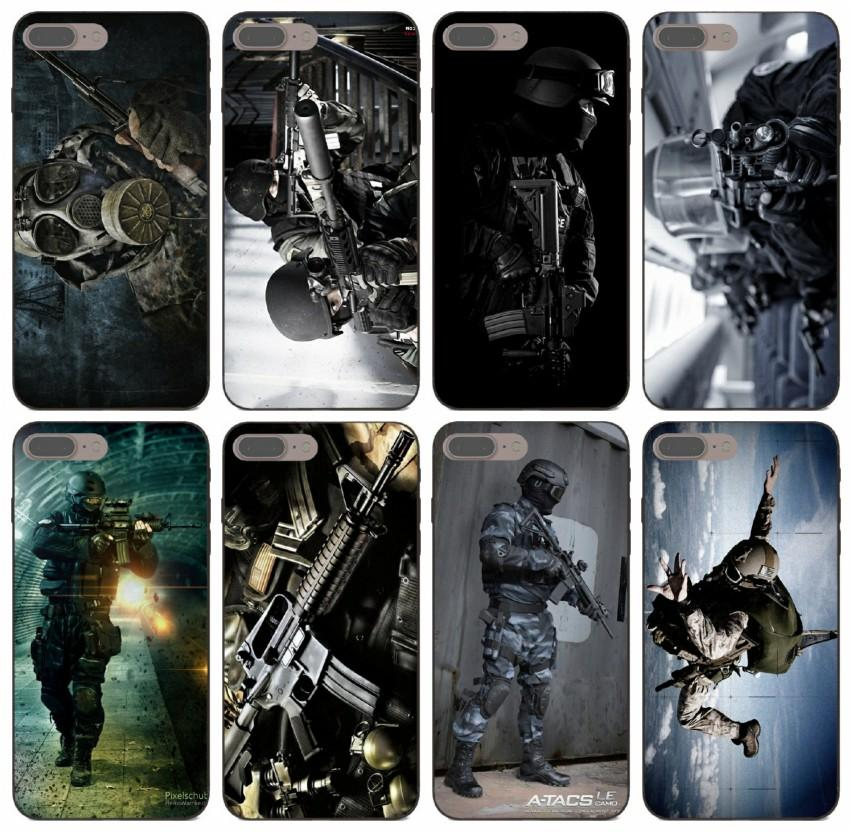 [TongTrade] Tactical Swat Gear Pattern Case For iPhone 11 Pro Max X XR XS 8 7 6s 5s Plus Samsung A6 A60 A6S Honor 5A 5C LG K12 Fashion Case
