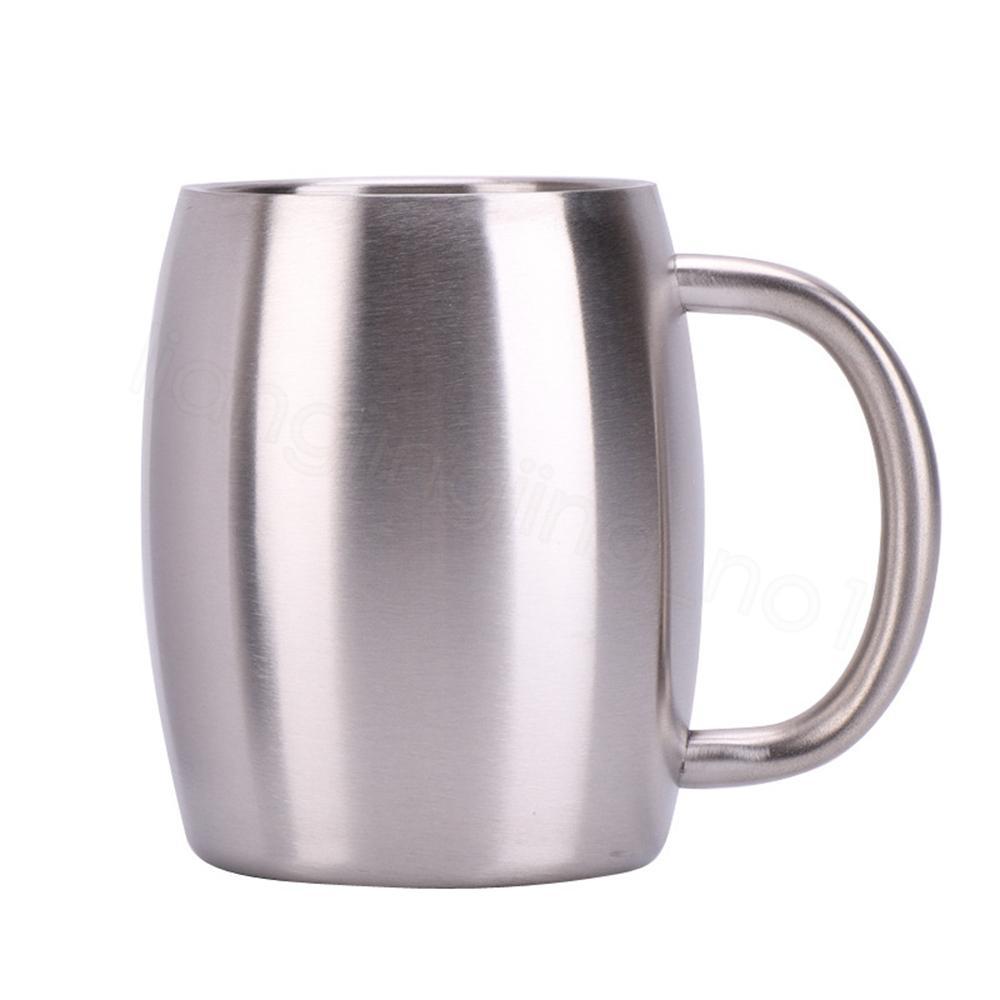 14Oz جدار مزدوج فنجان القهوة الفولاذ المقاوم للصدأ فراغ مختومة كوب معزول النبيذ كؤوس البيرة القدح دلو مع سبلاش مقاومة FFA3351 غطاء