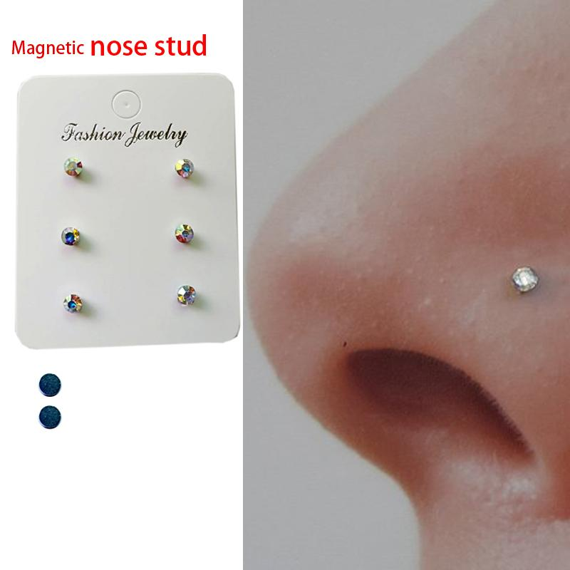 2020 Of Magnetic Nose Stud Non Piercing Nose Lip Labret Stud Magnet Tragus Helix Body Jewelry From Mingring002 11 34 Dhgate Com