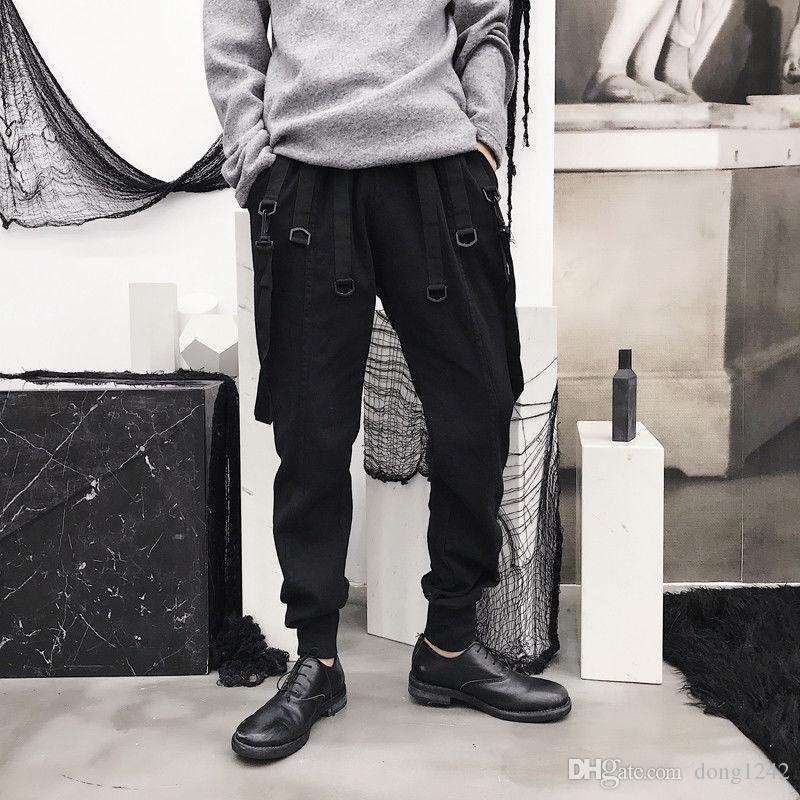 Случайные мужчины молодые спортивные свободные брюки хип-хоп DJ свободные брюки плюс размер Y538