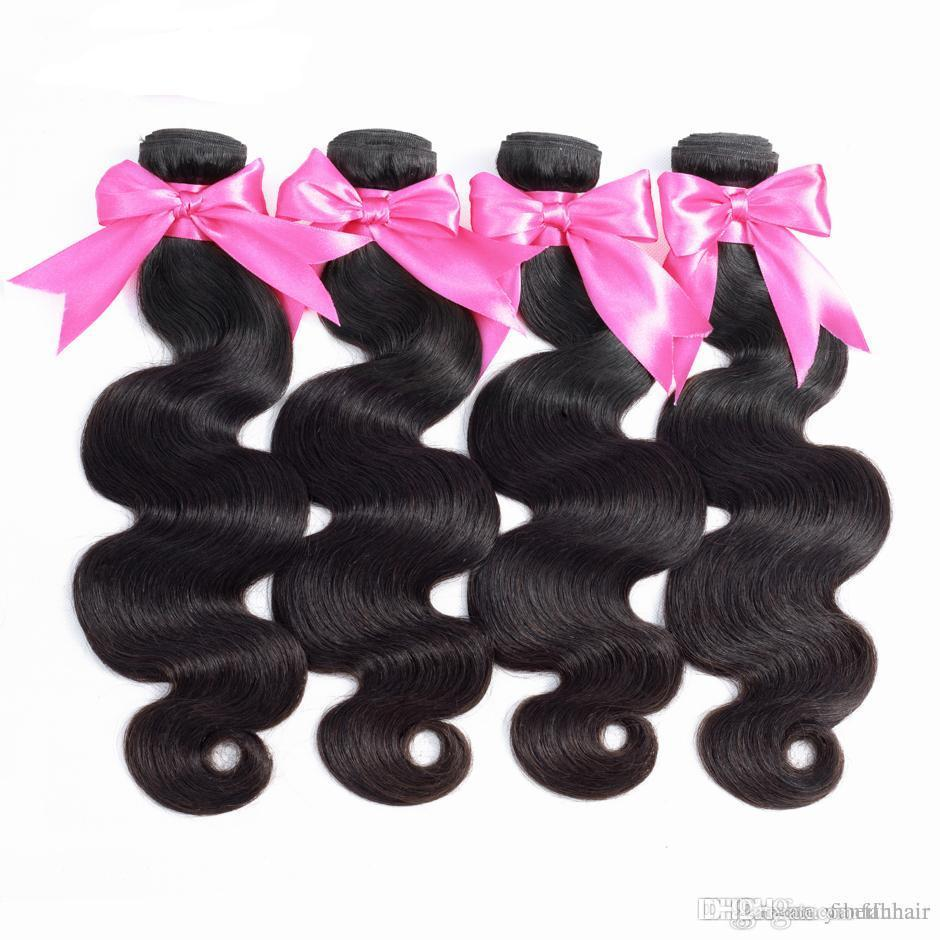 Lucky Queen Mongolian Body Wave Hair Extensions 100% Human Hair Bundles Free Shipping Nature Color Can Buy 4 Remy Hair Weave